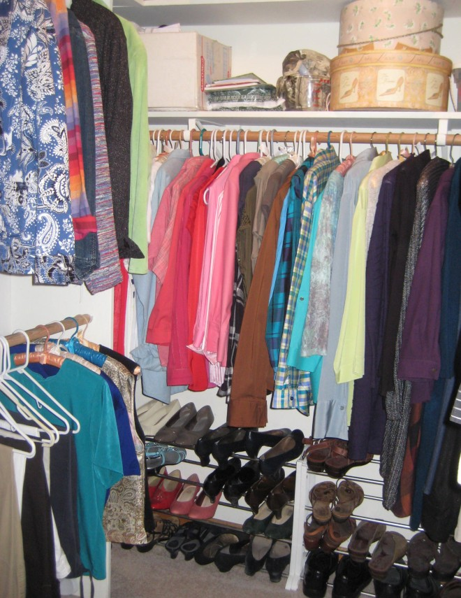Words, or clothing--it's all about compromise. Meet my new closet today!